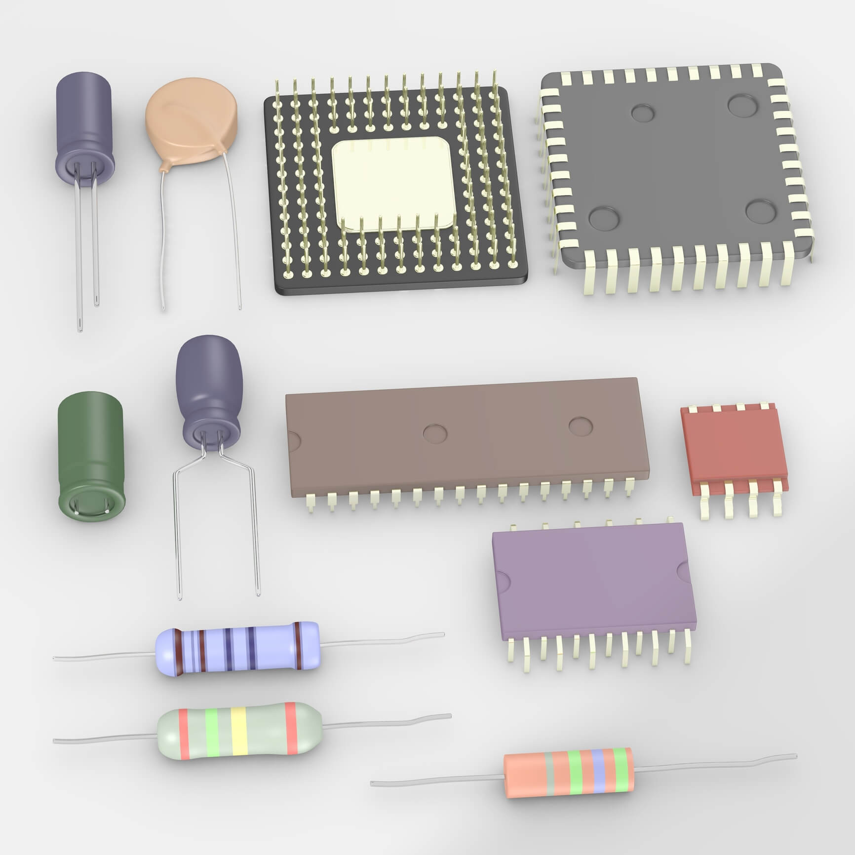 Distributors and suppliers of all types of electronic components